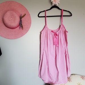 Vintage VS Pink Striped Tank Dress